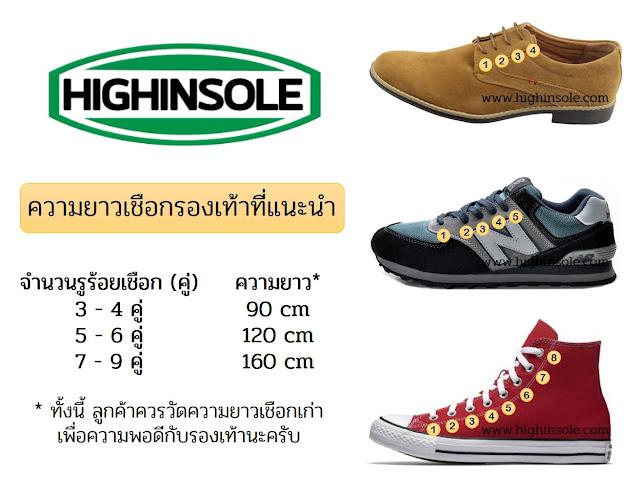 เชือกรองเท้า, เชือกผู้รองเท้า, เชือกผูกรองเท้า, ร้านขายเชือกรองเท้า, ขายเชือกรองเท้า - highinsole.com