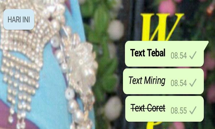 Membuat Pesan WhatsApp Dengan Huruf Tebal, Miring, Dan Coret