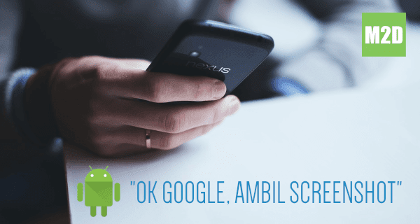 Screenshot Android dengan Perintah Suara Google Assistant