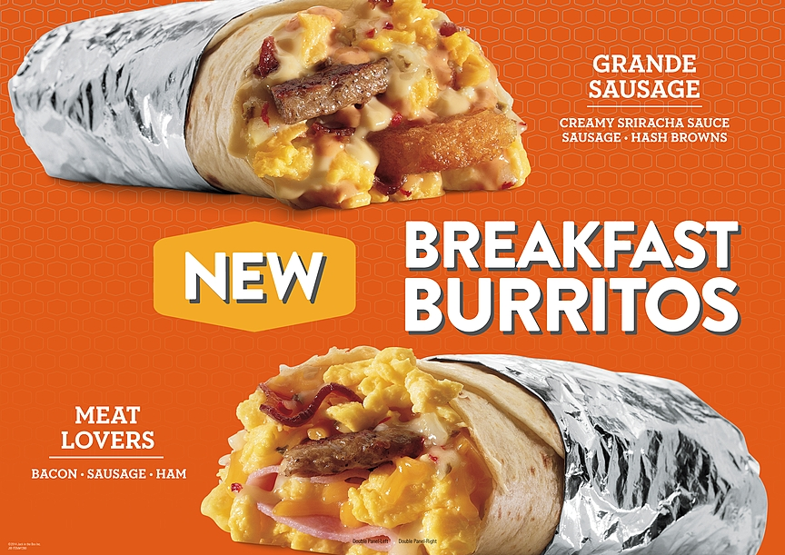 Fast Food With Breakfast Burritos