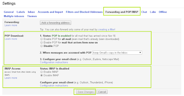 Cara Set Up POP dan SMTP di Gmail 2