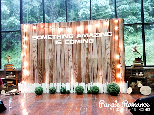 photo booth kuala lumpur, malaysia, antique, rustic, backdrop, event, annual dinner, corporate setup, stylist, concept, product launching, burlap, wood slabs, gramophone, fan, old radio, white fence, green grass ball, something amazing is coming, nokia smartphone, selangor, decorator, venue, wedding