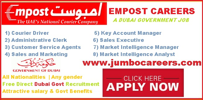Empost Careers 2018 Dubai Government Jobs For Expats With Free Visa