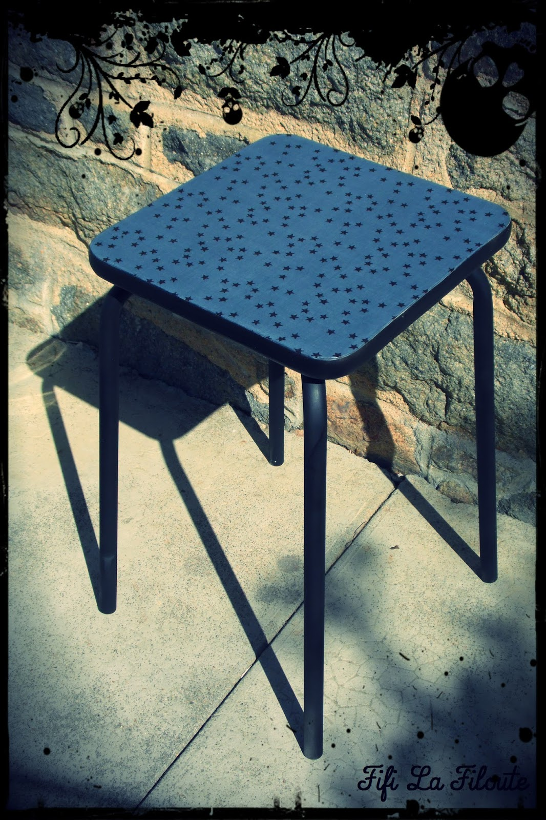 les bobines de fifi la filoute tuto du tabouret. Black Bedroom Furniture Sets. Home Design Ideas