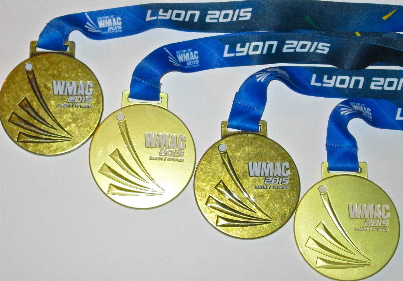 World Championship Medals - Lyon, France - 2015