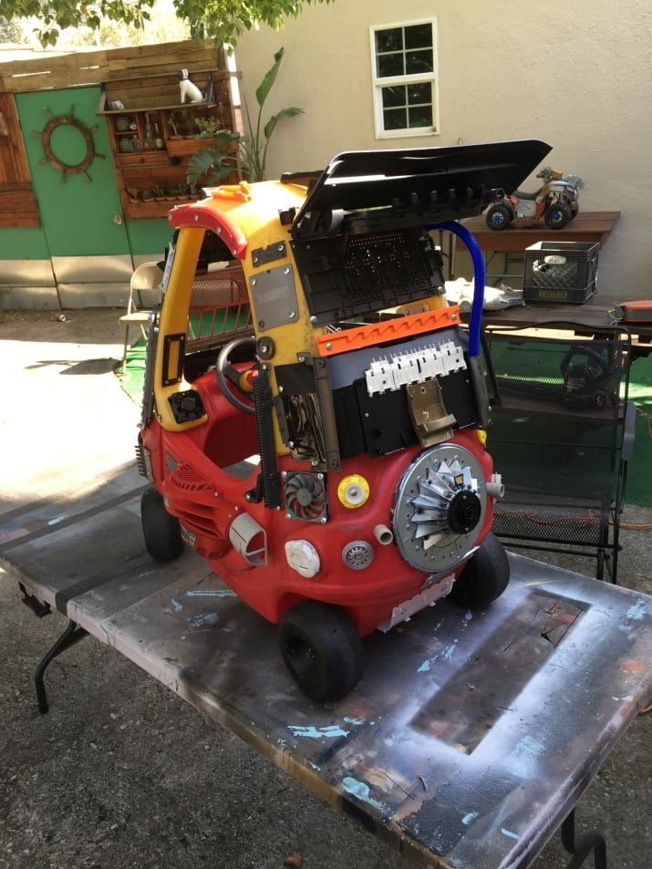 02-Ian-Pfaff-Little-Tikes-Cozy-Coupe-Infused-with-Mad-Max-www-designstack-co