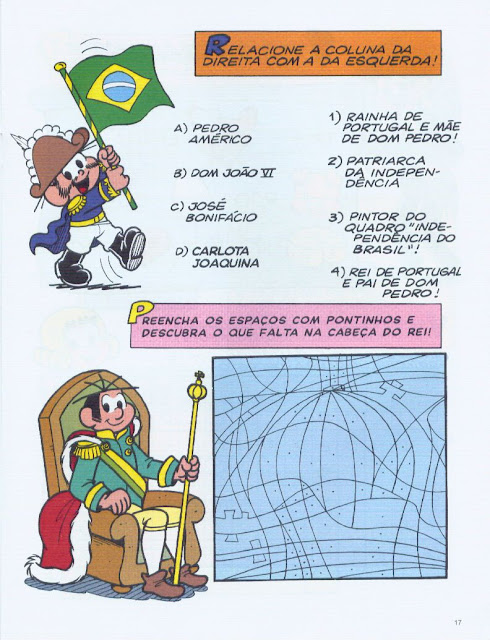 passatempos sobre a independencia do brasil