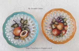 Pratos pintado à mão