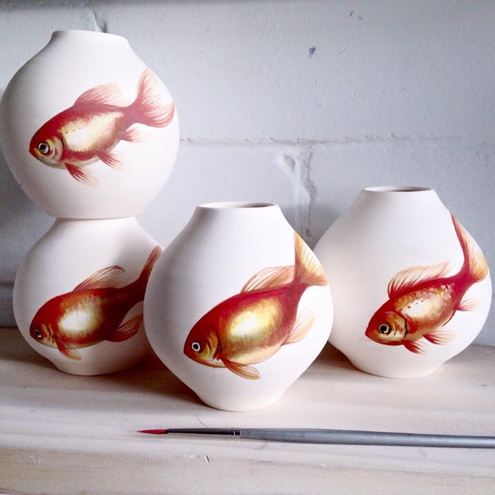 05-Niharika-Hukku-Painting-and-Pottery-with-a-Fish-Theme-www-designstack-co