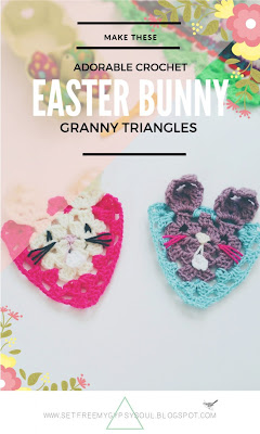 free rabbit crochet granny square easter bunny pattern 3d