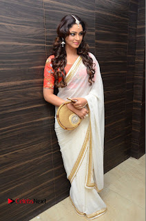 Actress Shilpi Sharma Pictures in White Saree at Kotikokkadu Audio Launch .COM 0174.JPG