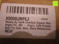 Etikett: Argan Oel - Biologisches Oel aus Marokko, 4 oz - Kalt gepresst und ausgezeichnete Feuchtigkeitsspendung fuer Haare, Haut, Nägel; Zur Behandlung von Frizz, vorzeitiger Hautalterung und Falten. Importiert aus Marokko von Beauty by Earth