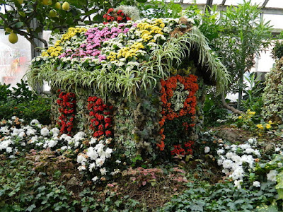Floral cottage at the 2018 Allan Gardens Conservatory Winter Flower Show by garden muses--not another Toronto gardening blog