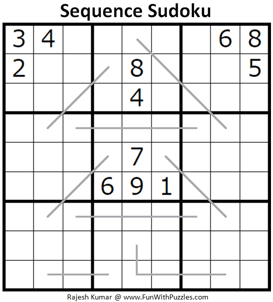 Sequence Sudoku Puzzle (Fun With Sudoku #277)