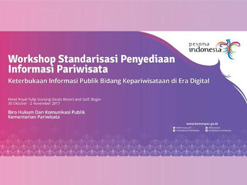 Kemenpar Gelar Workshop Standardisasi Penyediaan Informasi Pariwisata