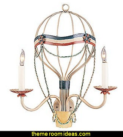 Hot Air Balloon Two Arm Wall Sconce