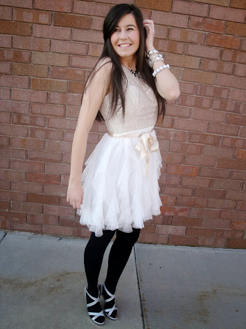 tulle, tulle skirt, tulle dress, pretty, high heels, silver heels, prom heels, macys, payless, jewerly, bracelets, watch, poofy skirt, poofy dress,
