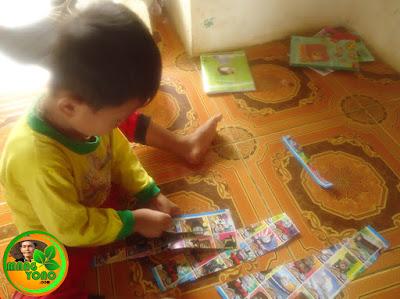 Peningkatan motorik anak dengan kegiatan menggunting