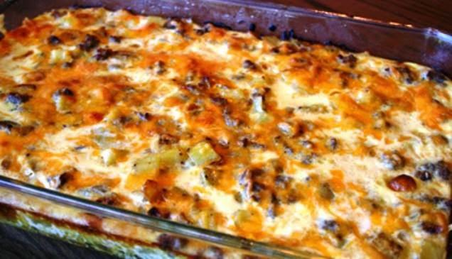 Λουκάνικα, Πατάτες και Μπέικον στο Φούρνο, από Νανσοσυνταγές
