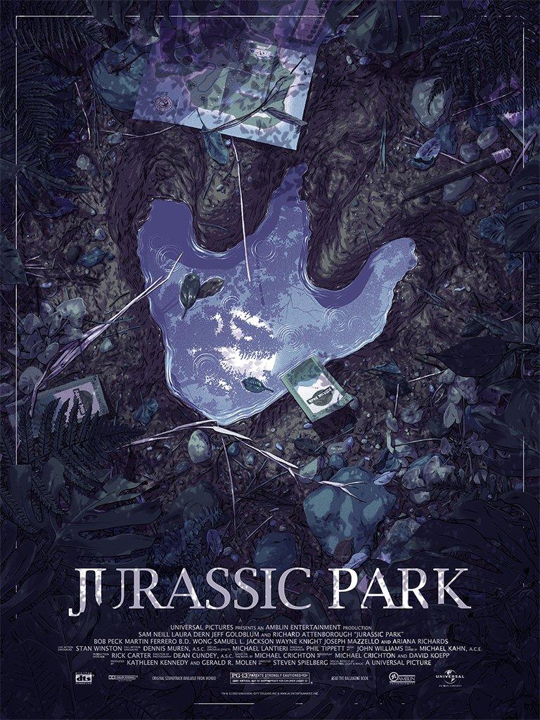 443d15ddf The Geeky Nerfherder: #CoolArt: 'Jurassic Park' print by Matthew ...