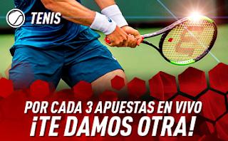 sportium Promo Tenis: Cada 3 apuestas En Vivo te damos 1 4-10 marzo