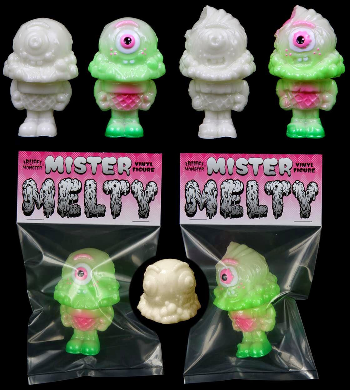 Glow in the Dark Mister Melty & Zombie Mister Melty Vinyl Figures by Buff Monster