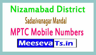 Sadasivanagar Mandal MPTC Mobile Numbers List Nizamabad District in Telangana State