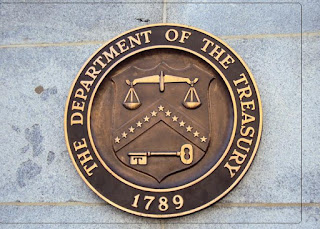 United States Department of the Treasury logo building