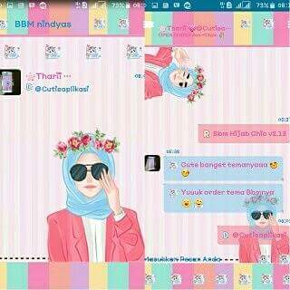 Download BBM Mod Hijab Chic