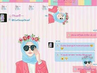 Download BBM Mod Hijab Chic v2.12 Apk