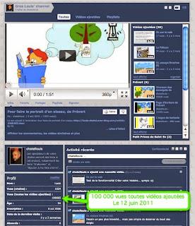 Les vidéos réalisées par GL : 100000 vues sur Youtube