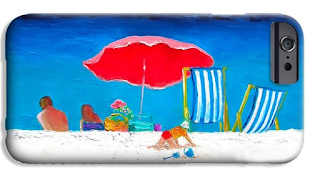 Under the Red Umbrella phone case
