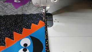 Stitching binding by machine