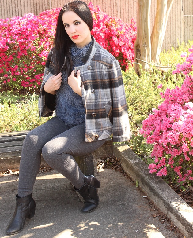 Grey Plaid Jacket