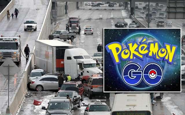 لعبة البوكيمون التي شرحناها في موضوع  منذ يومين تتسبب في في حادث سير كبير