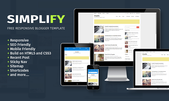 Simplify Responsive Blogger Template 2016