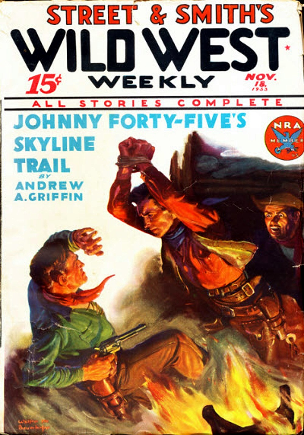 Wild West Weekly 2 Issue lot 1927/37 Early Issue and Nice Issue in one lot!
