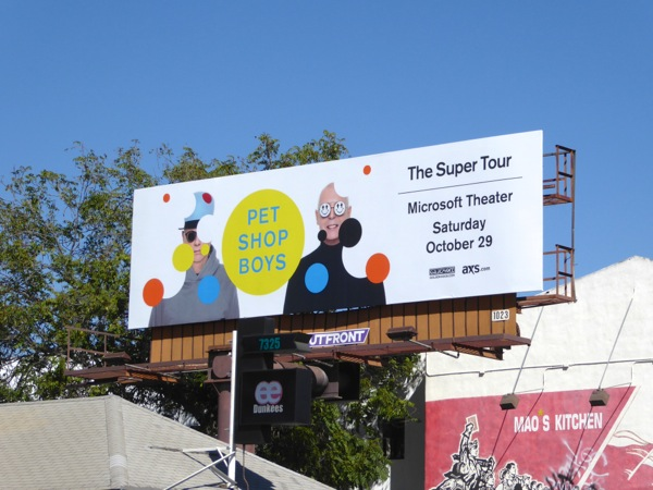 Pet Shop Boys Super Tour 2016 billboard
