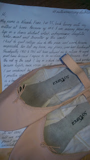 a pair of ballet shoes posted in for the  Millions Missing Event in Dublin