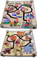 Mainan kayu maze binatang 2 in 1