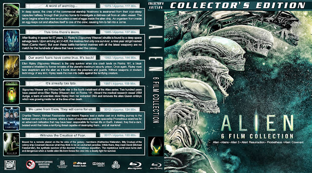 Alien 6 Film Collection Bluray Cover