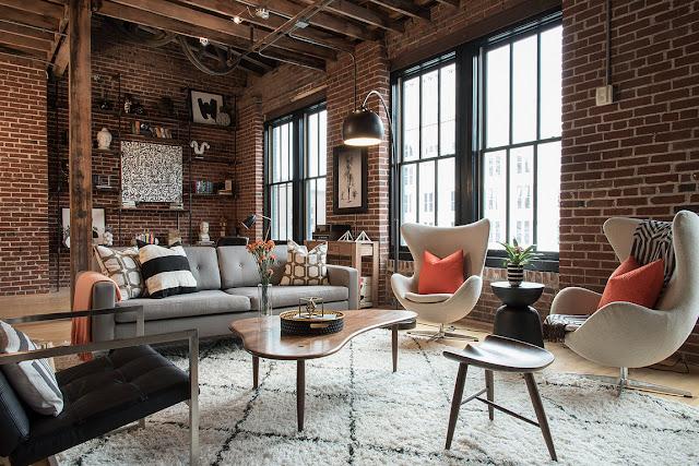 Industrial și contemporan într-un loft din St Louis, SUA