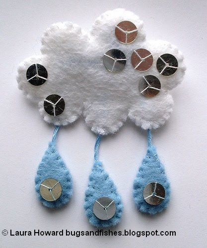 Bugs And Fishes By Lupin: How To: Felt Raincloud Brooch
