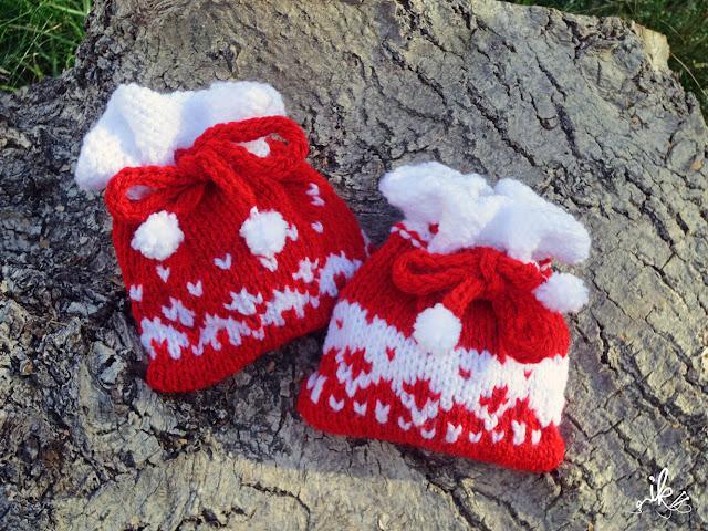 Für Weihnachten stricken, Weihnachtsbeutel, Weihnachtssäckchen