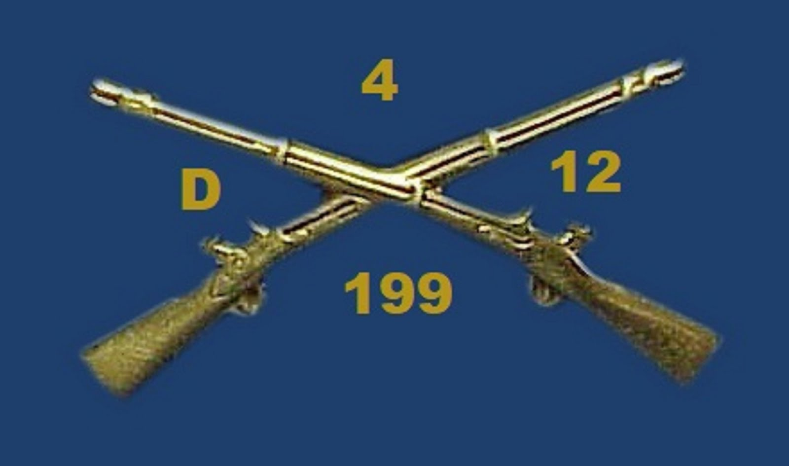 D-4-12-199 INFANTRY CROSSED RIFLES