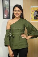 Pragya Jaiswal in a single Sleeves Off Shoulder Green Top Black Leggings promoting JJN Movie at Radio City 10.08.2017 088.JPG