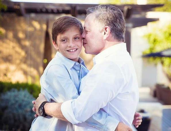 King Abdullah II and his youngest child, Prince Hashem, celebrate their birthdays on January 30. Queen Rania of Jordan