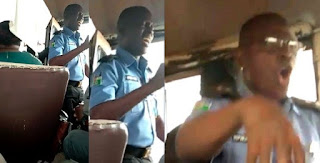Nigeria for Christ: Nigerian police officer spotted preaching inside public bus (Photos)