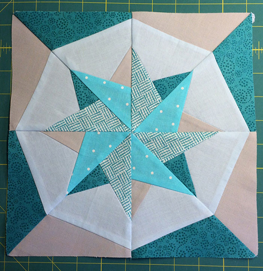 Woven Star Block Quilt Free Pattern designed by Joan of Cali Quilter