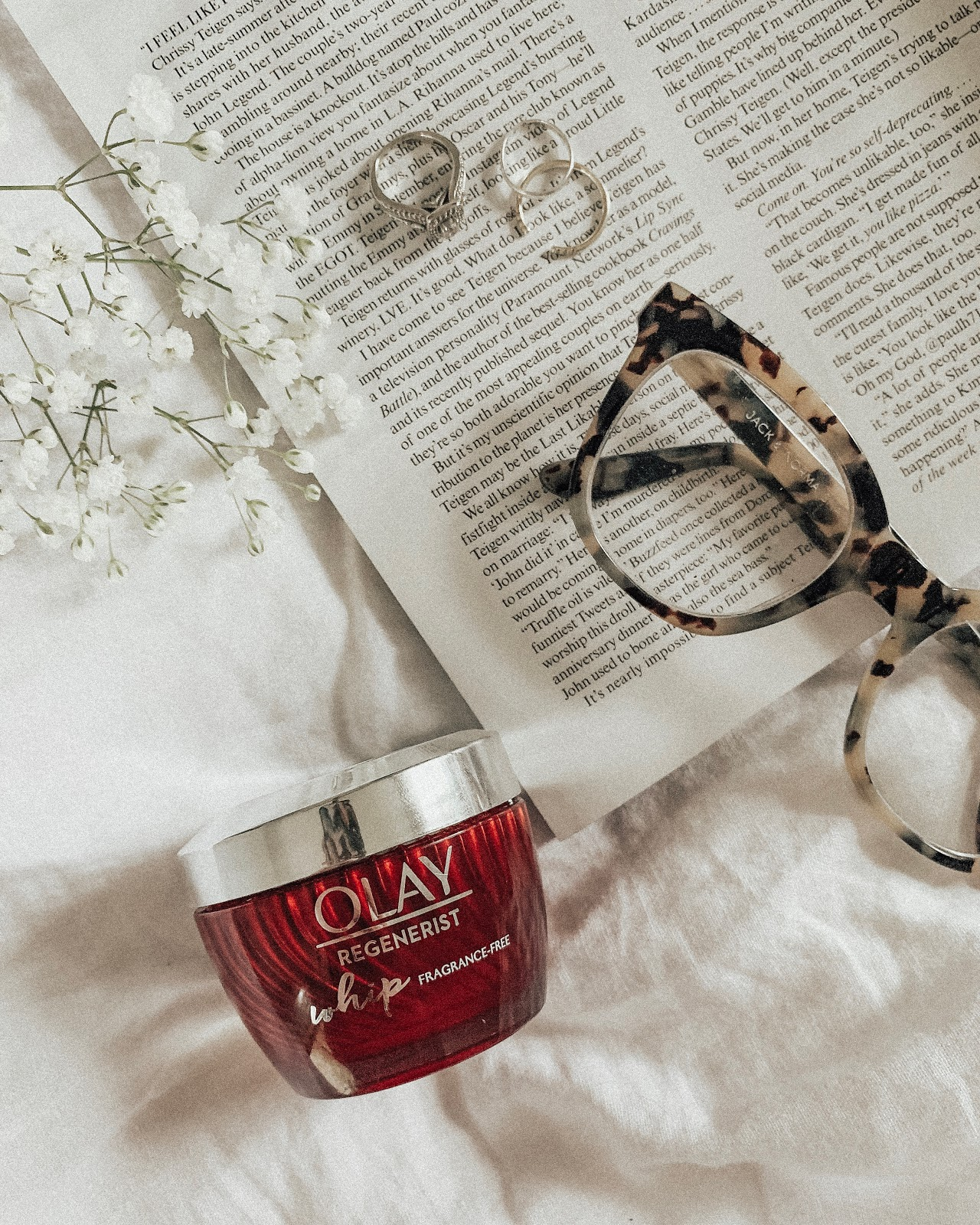 calming nighttime rituals // @OlayUS Regenerist Whip Fragrance-Free
